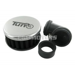 TunR sportlégszűrő, 90 fokos, Fekete