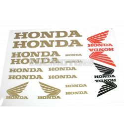 Honda matrica szett arany, B4