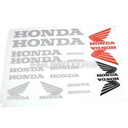 Honda matrica szett ezüst, B4