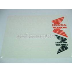 Honda matrica szett fehér, B4