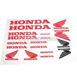Honda matrica szett piros, B4