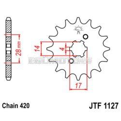 JT első lánckerék, 1127.14
