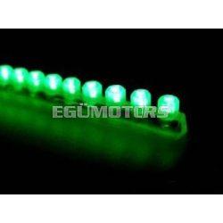 Koso LEDsor, szilikonágyban, zöld