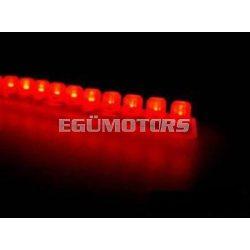 Koso LEDsor, szilikonágyban, piros