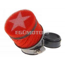 Stage6 csavart légszűrő, Piros, 48 mm