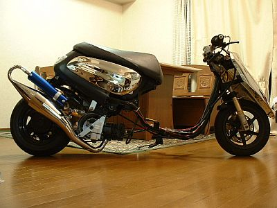 Yamaha Jog Aprio dragster, gyorsulási versenyre