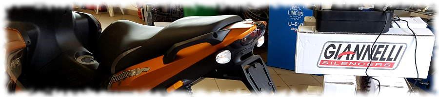Robogóra sportkipufogó felszerelés - Giannelli Extra V2